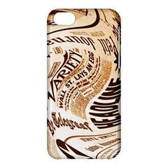 Abstract Newspaper Background Apple Iphone 5c Hardshell Case