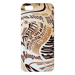 Abstract Newspaper Background Iphone 5s/ Se Premium Hardshell Case