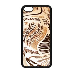 Abstract Newspaper Background Apple Iphone 5c Seamless Case (black)