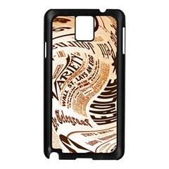 Abstract Newspaper Background Samsung Galaxy Note 3 N9005 Case (black)