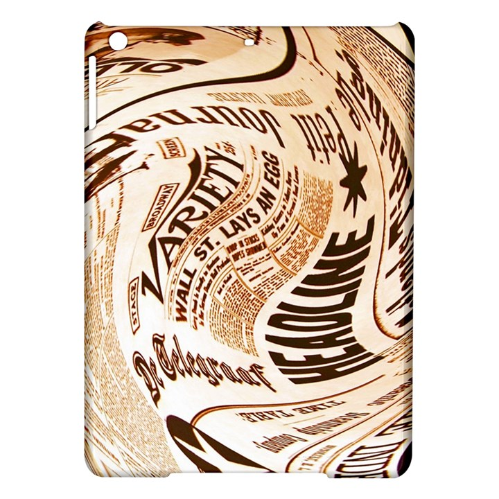 Abstract Newspaper Background iPad Air Hardshell Cases