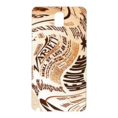 Abstract Newspaper Background Samsung Galaxy Note 3 N9005 Hardshell Back Case