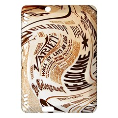 Abstract Newspaper Background Kindle Fire Hdx Hardshell Case
