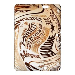 Abstract Newspaper Background Kindle Fire Hdx 8 9  Hardshell Case