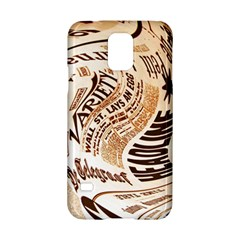 Abstract Newspaper Background Samsung Galaxy S5 Hardshell Case