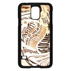 Abstract Newspaper Background Samsung Galaxy S5 Case (black)