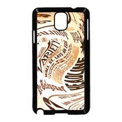 Abstract Newspaper Background Samsung Galaxy Note 3 Neo Hardshell Case (black)