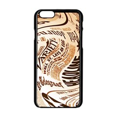 Abstract Newspaper Background Apple Iphone 6/6s Black Enamel Case