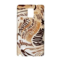 Abstract Newspaper Background Samsung Galaxy Note 4 Hardshell Case