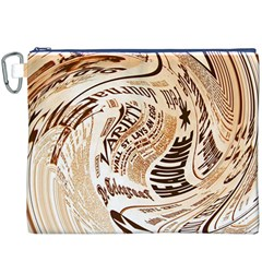 Abstract Newspaper Background Canvas Cosmetic Bag (xxxl)