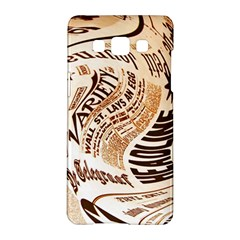 Abstract Newspaper Background Samsung Galaxy A5 Hardshell Case