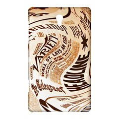 Abstract Newspaper Background Samsung Galaxy Tab S (8 4 ) Hardshell Case