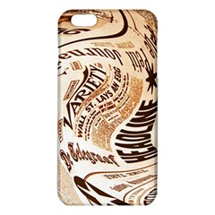 Abstract Newspaper Background iPhone 6 Plus/6S Plus TPU Case