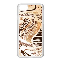 Abstract Newspaper Background Apple Iphone 7 Seamless Case (white)