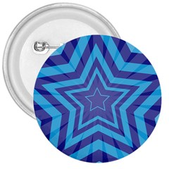 Abstract Starburst Blue Star 3  Buttons