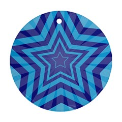 Abstract Starburst Blue Star Ornament (round)