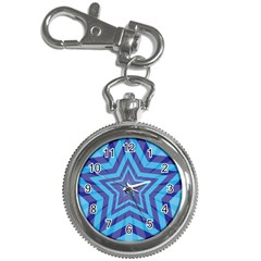 Abstract Starburst Blue Star Key Chain Watches