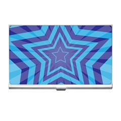 Abstract Starburst Blue Star Business Card Holders