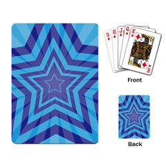 Abstract Starburst Blue Star Playing Card