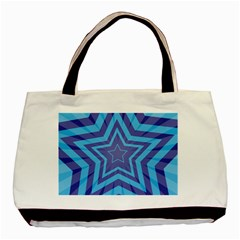 Abstract Starburst Blue Star Basic Tote Bag