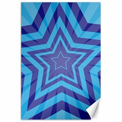 Abstract Starburst Blue Star Canvas 20  X 30