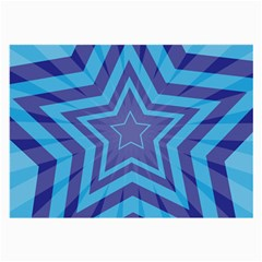 Abstract Starburst Blue Star Large Glasses Cloth (2 Side)