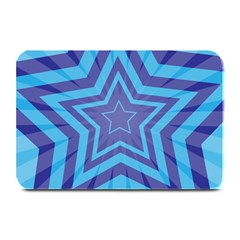 Abstract Starburst Blue Star Plate Mats