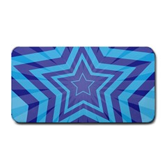 Abstract Starburst Blue Star Medium Bar Mats