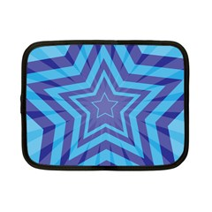 Abstract Starburst Blue Star Netbook Case (Small)