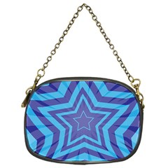 Abstract Starburst Blue Star Chain Purses (one Side)