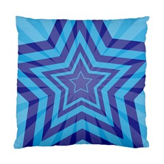 Abstract Starburst Blue Star Standard Cushion Case (One Side)