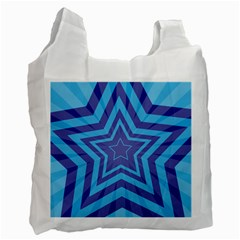 Abstract Starburst Blue Star Recycle Bag (two Side)
