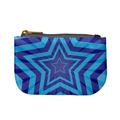 Abstract Starburst Blue Star Mini Coin Purses
