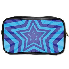 Abstract Starburst Blue Star Toiletries Bags 2 Side