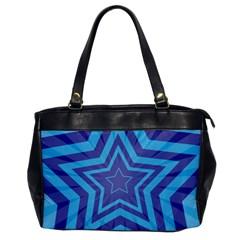 Abstract Starburst Blue Star Office Handbags