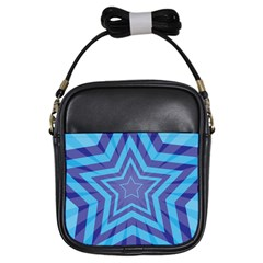 Abstract Starburst Blue Star Girls Sling Bags