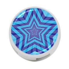 Abstract Starburst Blue Star 4 Port Usb Hub (one Side)