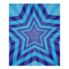 Abstract Starburst Blue Star Shower Curtain 60  X 72  (medium)