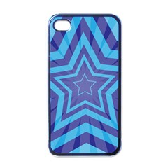 Abstract Starburst Blue Star Apple Iphone 4 Case (black)