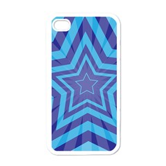 Abstract Starburst Blue Star Apple Iphone 4 Case (white)