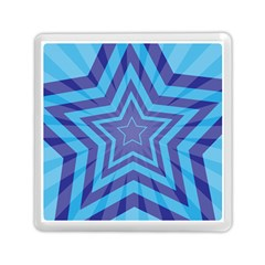 Abstract Starburst Blue Star Memory Card Reader (square)