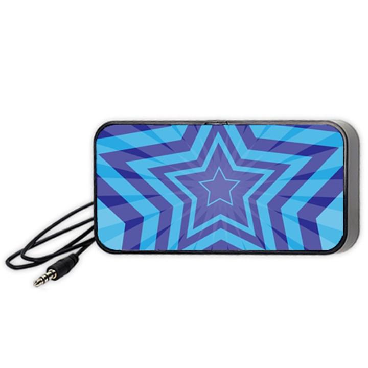 Abstract Starburst Blue Star Portable Speaker (Black)
