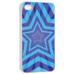 Abstract Starburst Blue Star Apple Iphone 4/4s Seamless Case (white)