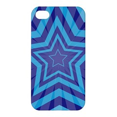 Abstract Starburst Blue Star Apple Iphone 4/4s Hardshell Case