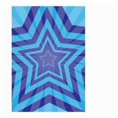 Abstract Starburst Blue Star Small Garden Flag (two Sides)