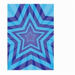 Abstract Starburst Blue Star Large Garden Flag (two Sides)