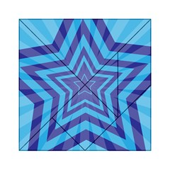 Abstract Starburst Blue Star Acrylic Tangram Puzzle (6  X 6 )