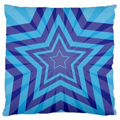 Abstract Starburst Blue Star Large Cushion Case (two Sides)