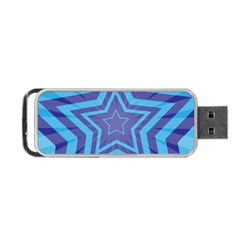 Abstract Starburst Blue Star Portable Usb Flash (one Side)