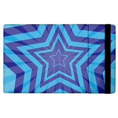Abstract Starburst Blue Star Apple Ipad 2 Flip Case